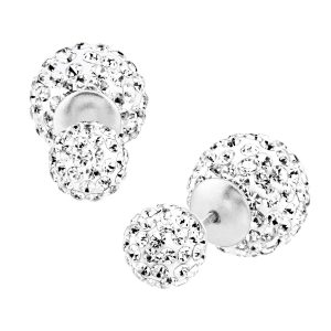 Crystal Front-Back Earrings