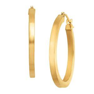 Square Tube Hoop Earrings