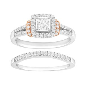 5/8 ct Diamond Pavé Bridal Set
