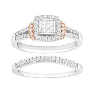 5/8 ct Diamond Pavé Bridal Set