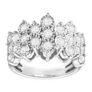 1 ct Diamond Honeycomb Ring