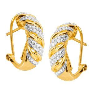 1/4 ct Diamond C-Hoop Earrings