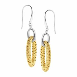 Ravello Woven Two-Tone Earrings