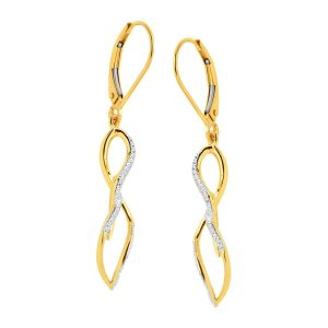 1/8 ct Diamond Twist Drop Earrings