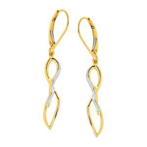 1/8 ct Diamond Twist Drop Earrings