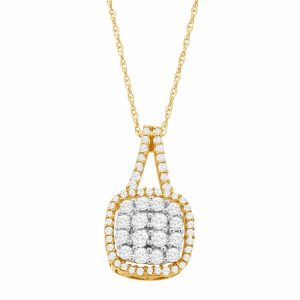1/2 ct Diamond Cushion Pendant