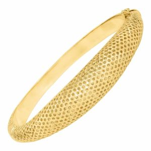 Domed Pierced Bangle Bracelet