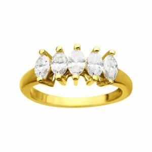 1 ct 5-Stone Diamond Ring